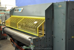 Used Samco Full Beam Die Cutting Clicker Press Machine For Use With Feeder. (Production Type Machine)