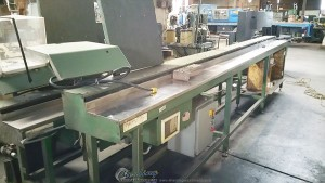 Used Stone Double Miter Automatic Saw With Automatic Feeder Tables