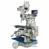 Brand New Baileigh Variable Speed Vertical Milling Machine (Single Phase) With 3 Axis DRO and X/Y/Z Table Power Feeds