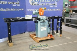 "Used Scotchman (NON-FERROUS, SEMI-AUTOMATIC WITH POWER CLAMPING AND POWER HEAD DOWN FEED) Circular Cold Saws (For Cutting Aluminum, Brass, Copper, Plastics) With 60"" Quick Stop Conveyor"