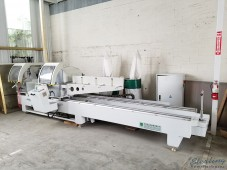 Used Jinpu Double Miter Semi-Auto Sliding Saw